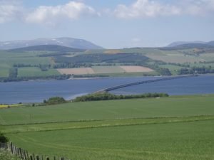 Leaving the Black Isle to cross the Cromarty Firth